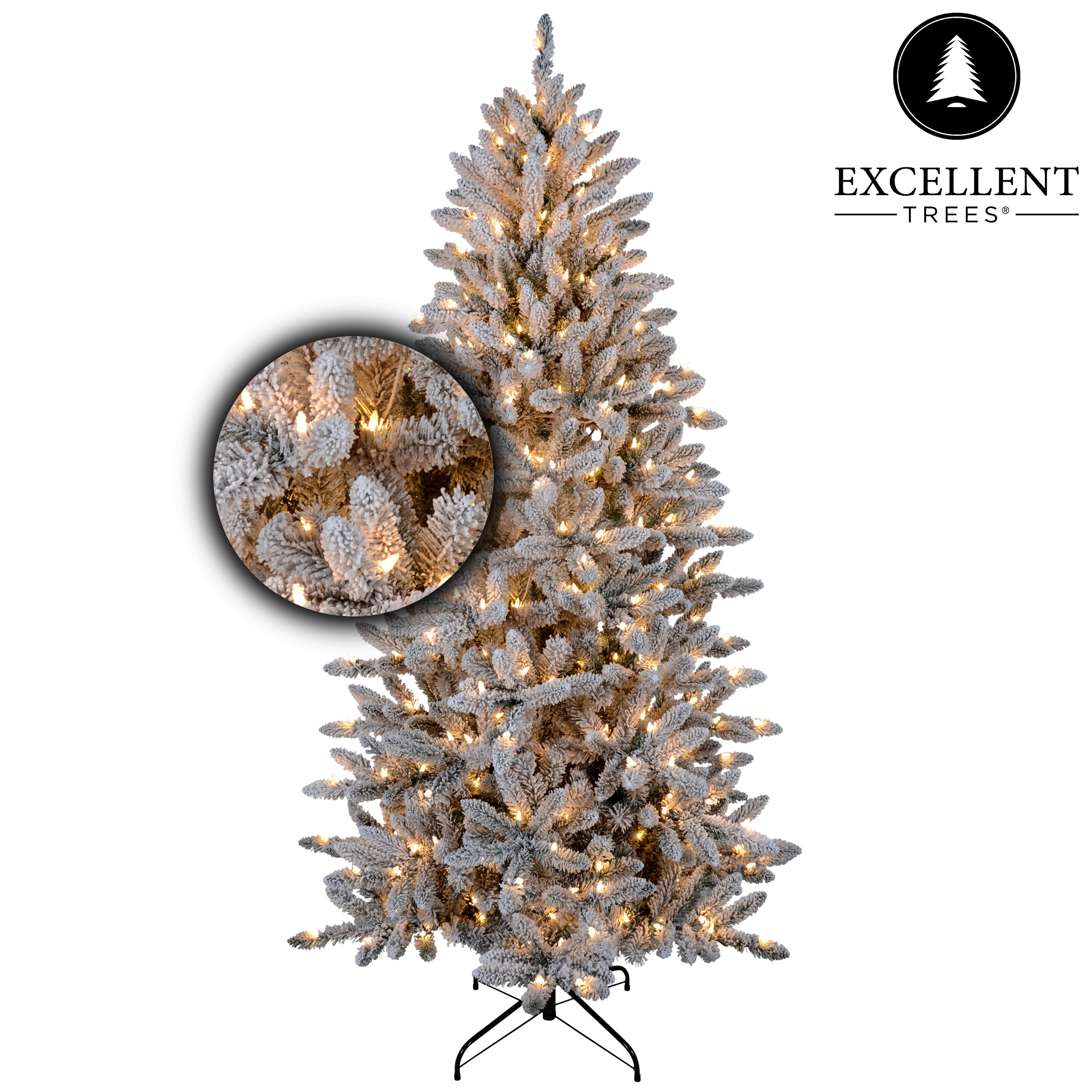 Excellent Trees® Led Visby Snowy 150 cm