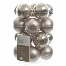 Glas Kerstballen (60mm) Box 20 Stuks Emaille Mat Naturel Linen