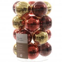 Glas Kerstballen Mix (60mm) Box 20 Stuks Classic Twist