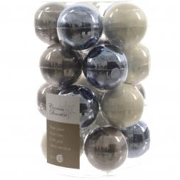 Glas Kerstballen Mix (6cm) Box 20 Stuks Winter Light