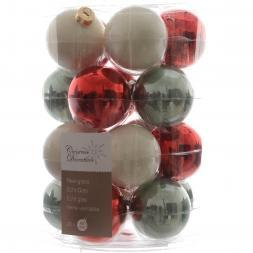 Glas Kerstballen Mix (60mm) Box 20 Stuks Christmas Time