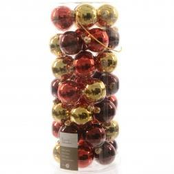 Glas Kerstballen Mix (60mm) Box 49 Stuks Classic Twist