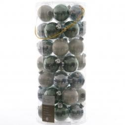 Glas Kerstballen Mix (60mm) Box 49 Stuks Misty Lake