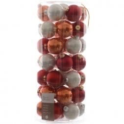 Glas Kerstballen Mix (60mm) Box 49 Stuks Coming Home