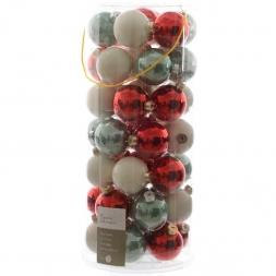 Glas Kerstballen Mix (60mm) Box 49 Stuks Christmas Time