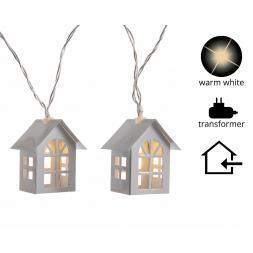 Led Kerstverlichting Huisjes 12 lampjes Warm wit