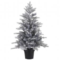 Kunstkerstboom Grandis Frosted mini in pot 90