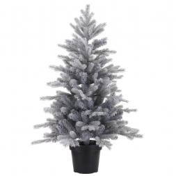 Kunstkerstboom Grandis Frosted mini in pot 75