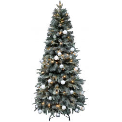 Kerstboom met verlichting Easy Set Up Tree Led Mandal Decorated Frosted 180 Shiny Mint