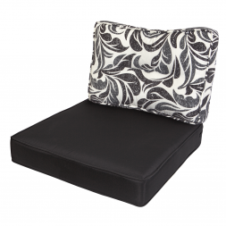 Kopu Retro Flower Black Loungekussenset Zit en Rug 60 cm