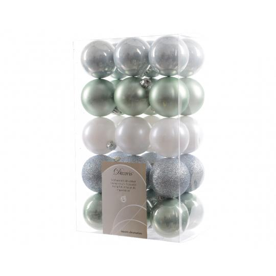 Kerstballen Mix (60Mm) Box 30 Stuks Misty Lake