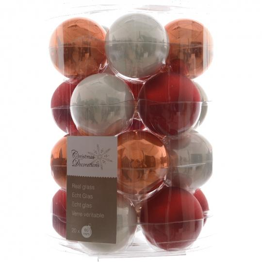 Glas Kerstballen Mix (60mm) Box 20 Stuks Coming Home