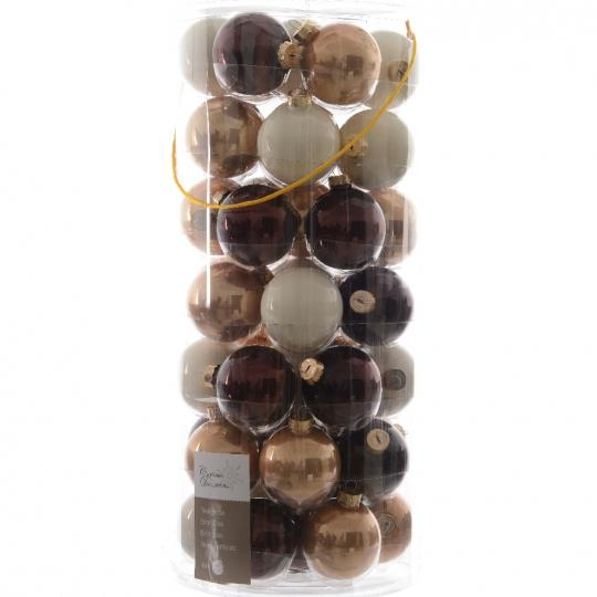 Glas Kerstballen Mix (60mm) Box 49 Stuks Pure And Warm
