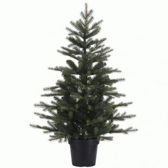 Kunstkerstboom Grandis mini in pot 90