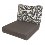 Kopu Retro Flower Grey Loungekussenset Zit en Rug 60 cm