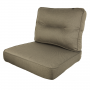 Kopu Manchester Taupe Lounge Rugkussen (60x40 cm) Afbeelding 4